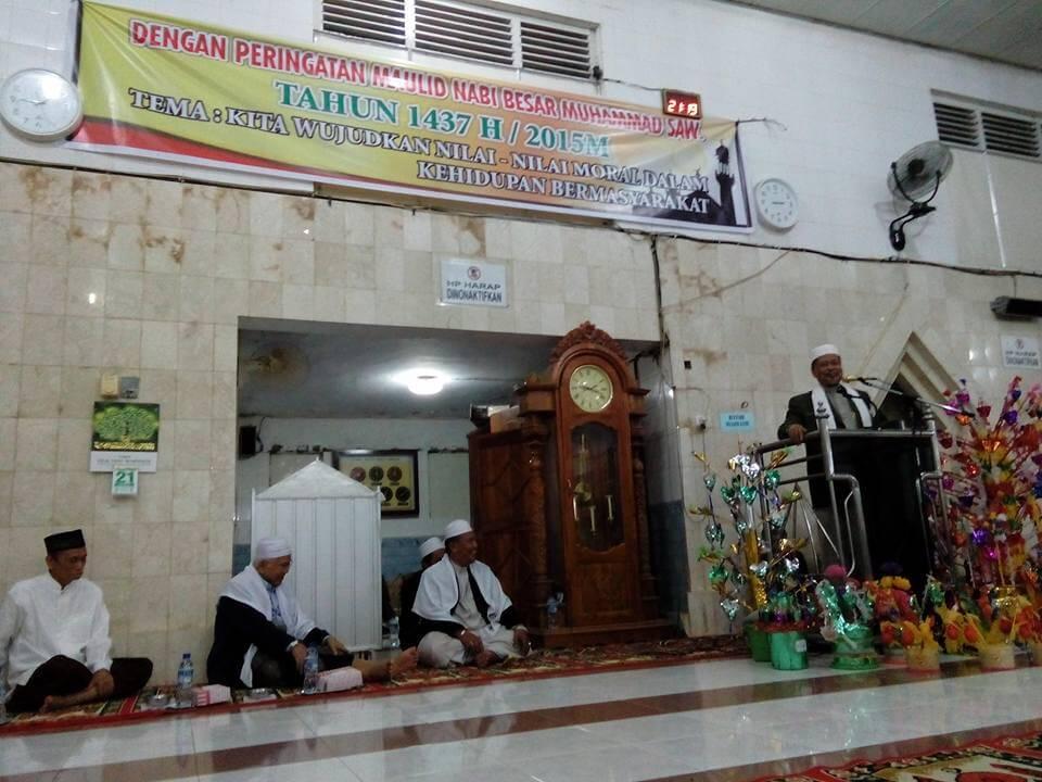 Pengurus Masjid Jami Peringati Maulid