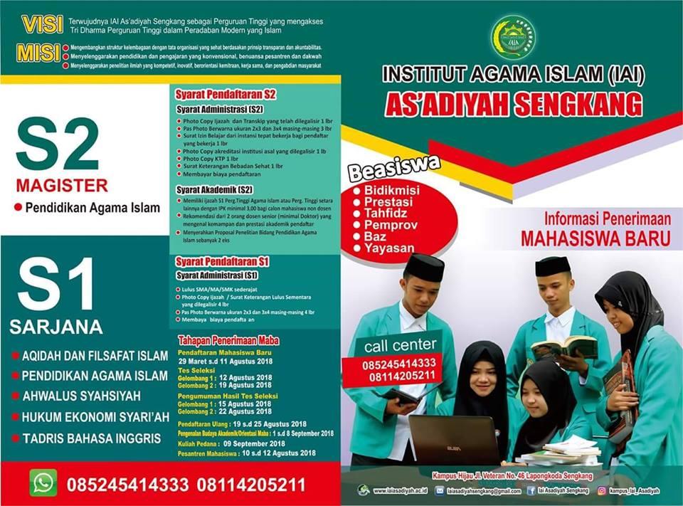 IAI As'adiyah Terima Calon Mahasiswa Baru